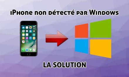 Votre iPhone n'apparait pas dans l'explorateur de Windows